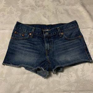 Levi's Blue Jean Short Shorts
